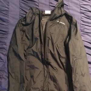 Black road coat/windbreaker